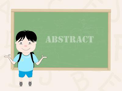 英文论文Abstract部分注意这些问题