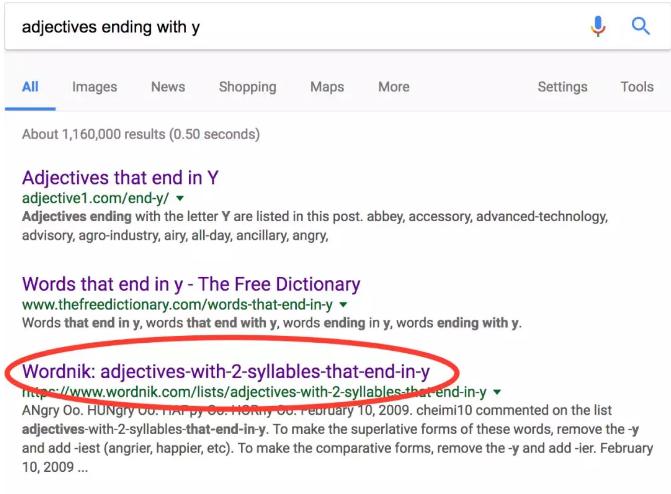 巧用Google扩充Assignment写作英语词汇量