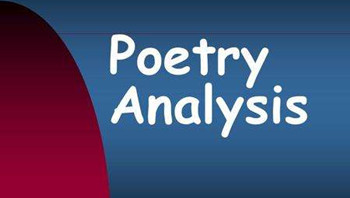 Poetry Analysis Essay怎么写?