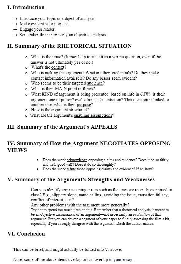 如何写一篇修辞性分析论文Rhetorical Analysis Essay?